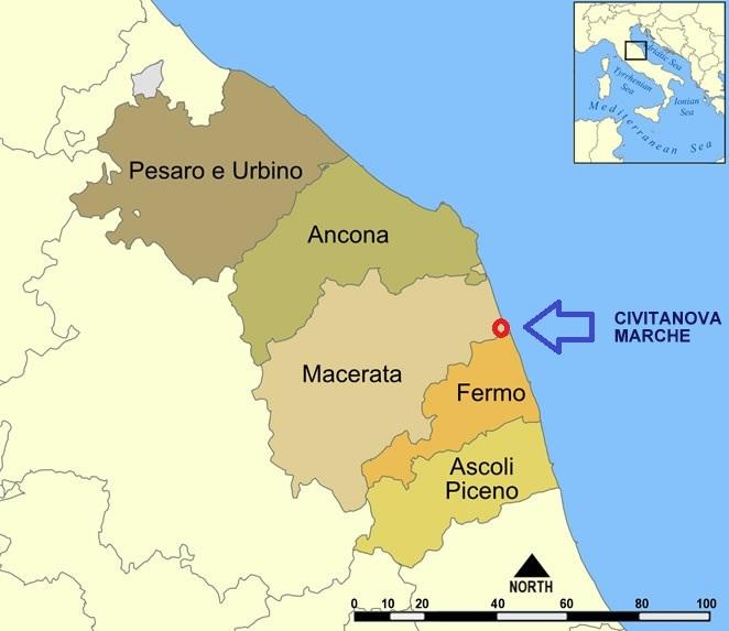 Cartina Stradale Civitanova Marche.Mare Blu 2 Casa Vacanza Il Bel Mare Delle Marche Bandiera Blu 2012